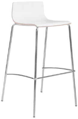 Elite Multiply 4 Leg Bar Stool With White Frame - Wenge Finish