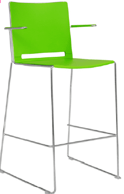 Elite Vice Versa Bar Stool With Polypropylene Shell & Arms