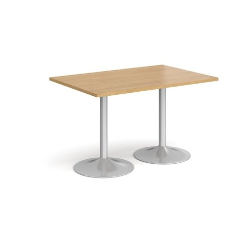Dams Genoa Rectangular Dining Table With Trumpet Base 1200 x 800mm Diameter