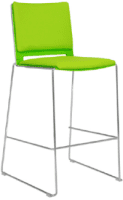 Elite Vice Versa Bar Stool with Upholstered Seat & Back