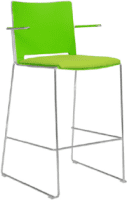Elite Vice Versa Bar Stool With Arms & Upholstered Seat