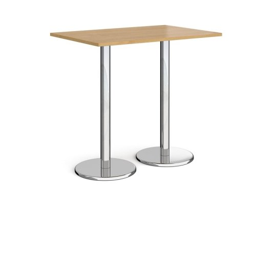 Dams Pisa Rectangular Poseur Table With Round Base 1200 x 800mm