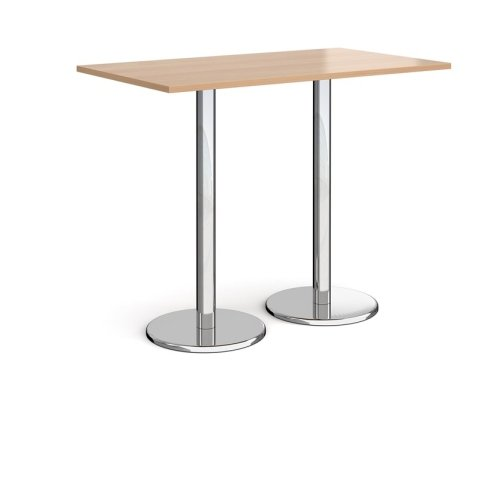 Dams Pisa Rectangular Poseur Table With Round Base 1400 x 800mm