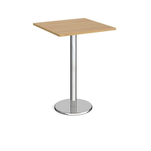 Dams Pisa Square Poseur Table With Round Base 800mm
