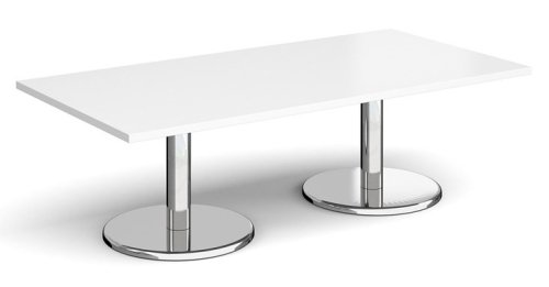 Dams Pisa Rectangular Coffee Table With Round Bases 1600 x 800mm