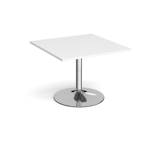 Dams Chrome Trumpet Base Square Boardroom Table 1000mm
