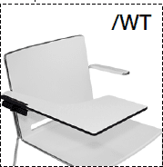 Elite Vice Versa Breakout Chair With Black Frame & Writing Tablet