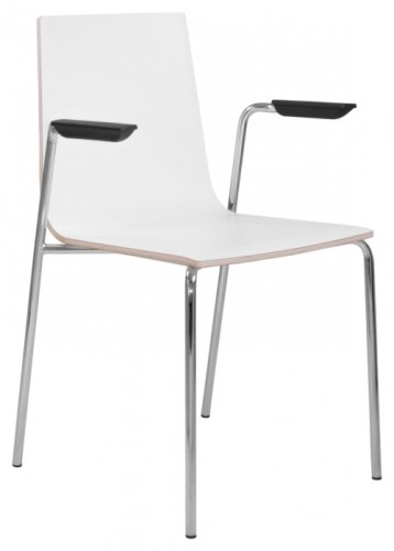 Elite Multiply Breakout Chair With Arms & White Frame - White Finish