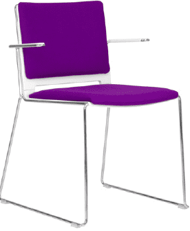 Elite Vice Versa Breakout Chair With Arms & Upholstered Seat & Back