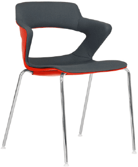 Elite Zen 4 Legged Breakout Chair with Upholstered Seat and Back